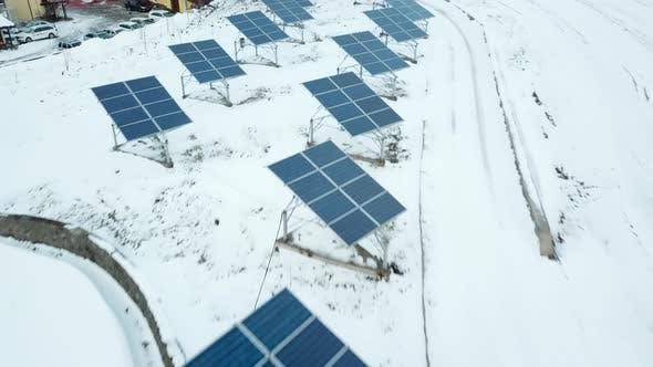 Thumbnail for Alternative Energy Solar Power Pplant in the Winter