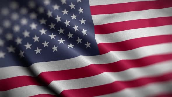 USA Flag Textured Waving Close Up Background HD