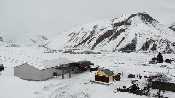 Thumbnail for Cableway Lifting in Winter Ski Resort