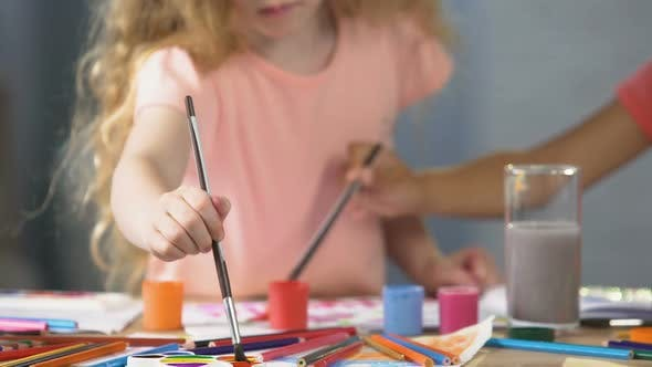 Thumbnail for Female Preschoolers Painting a Picture at Art Club, Hobby and Leisure Activities