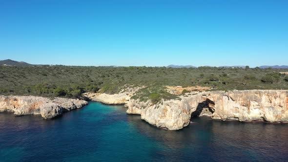 The Cala Varques lagoon in Mallorca