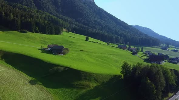 Drone Aerial View of Italian Alps in Summer