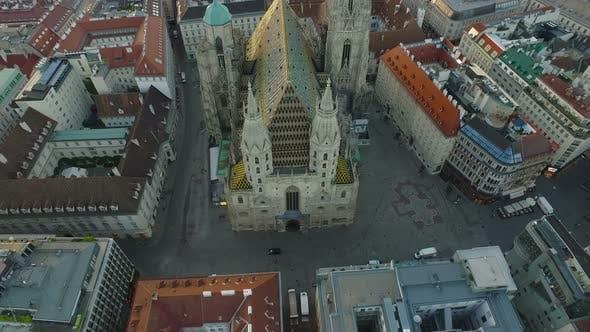 Aerial of Stephansdom in Stephansplatz