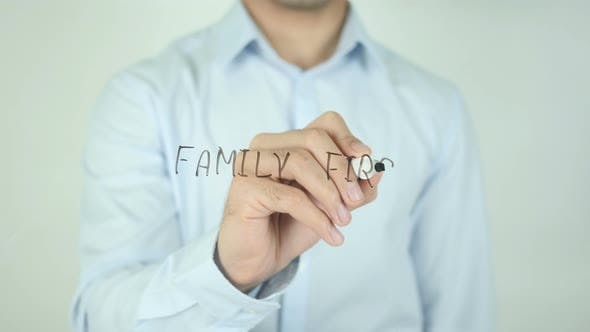 Cover Image for Family First, Writing On Screen