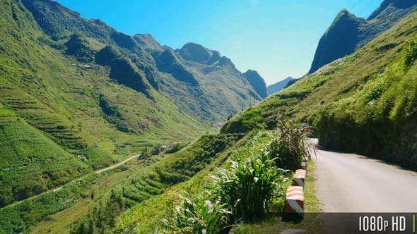 Thumbnail for Mountainous Landscape along the Remote Road on the Ha Giang Loop in Vietnam
