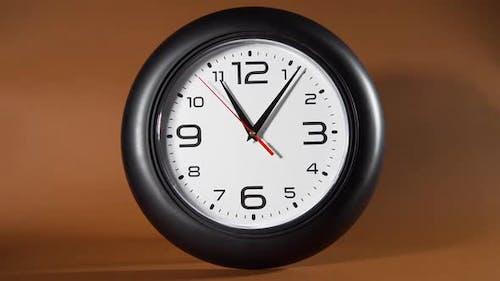 Black Mechanical Clock Is Ticking