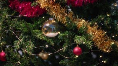 Decorated and illuminated Christmas tree