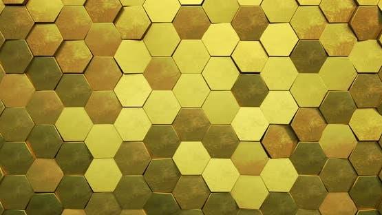 Gold Hexagon Loop