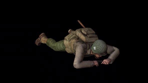 Soldier Army Crawl