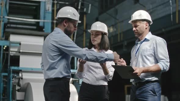 Thumbnail for Engineer Supervisor Inspecting Metal Part