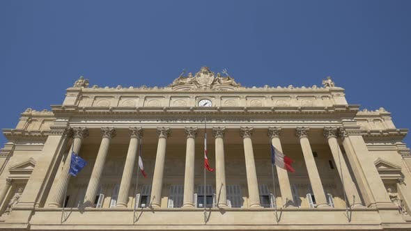 The Chamber of Commerce's facade, Marseille