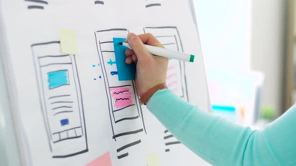 Thumbnail for Woman Working on User Interface Design at Office 20