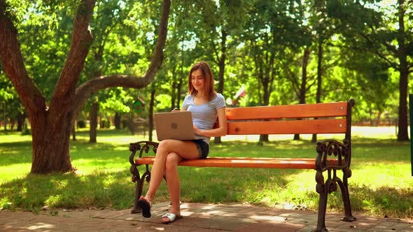 Thumbnail for Female Has Video Call Outdoors
