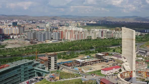 Thumbnail for Aerial View of Ulaanbaatar Mongolia