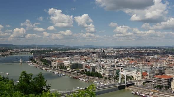 Skyline of Budapest from Gellért Hill