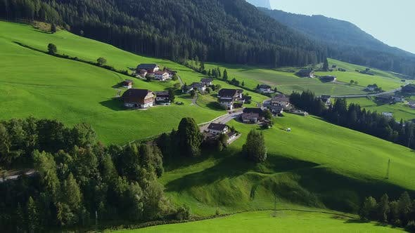 Thumbnail for Aerial View of Italian Village in Alps