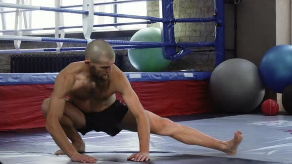 Thumbnail for Professional Mma Fighter Warming Up Before Training at the Gym