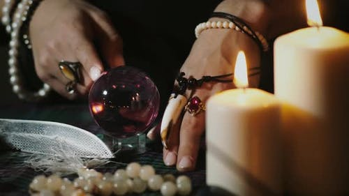Prophecy with crystal ball