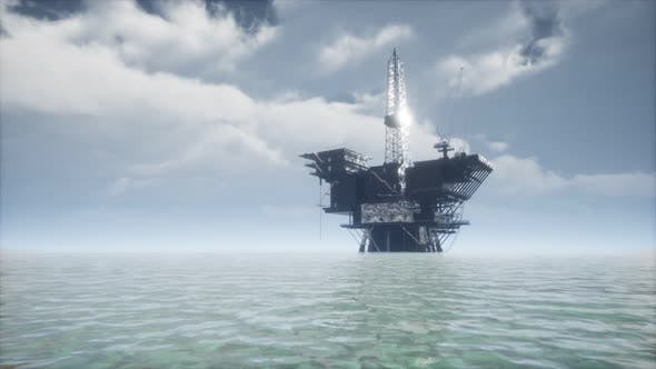Thumbnail for Large Pacific Ocean Offshore Oil Rig Drilling Platform