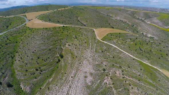 Thumbnail for Agricultural Landscapes on Tops of Hills, Fascinating Aerial View of Cyprus