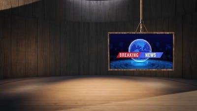 3D Virtual News Studio Background A50022