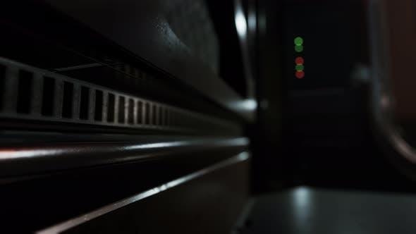 Metal Pannels in Dark Futuristic Interior