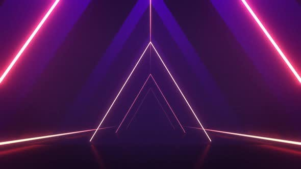 Thumbnail for Triangle Tunnel VJ Loop