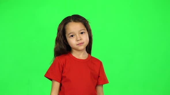 Thumbnail for Cute Toddler on Green Background