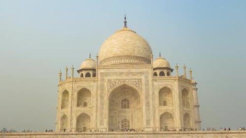 Mausoleum Taj Mahal in Agra, India, Hyperlapse