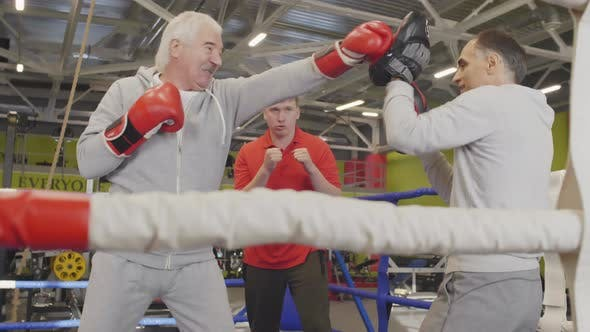 Thumbnail for Aged Sparring Partners Training inside Boxing Ring