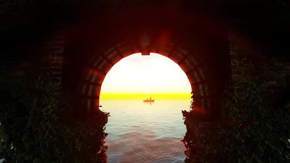 Thumbnail for Lovers On Bridge and Sunset Ocean