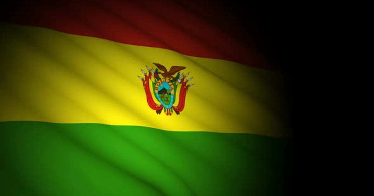 Bolivia Flag Blowing in Wind
