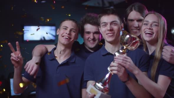 Cybersport Champion Team Portrait