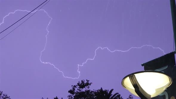 Lightning Strike above a Building.