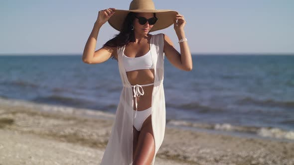 Woman Beach Summer Holiday Vacation Concept