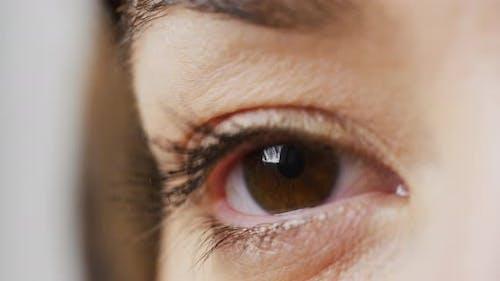Opening a brown eye