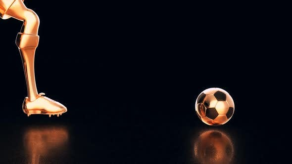 Thumbnail for 3D motion design of a football game