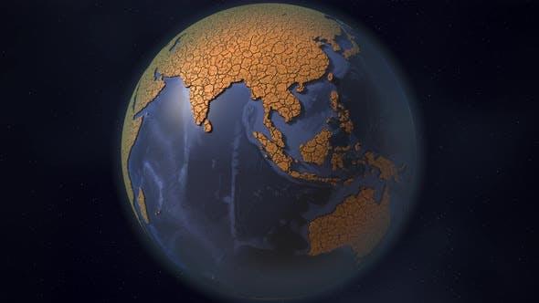 Trockener gebrochener Planet Erde