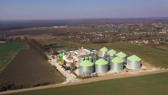 The Agricultural Silos - Building Exterior, Storage and Drying of Grains, Wheat, Corn, Soy
