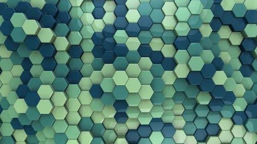Hexagon Background Aquamarine - 4K