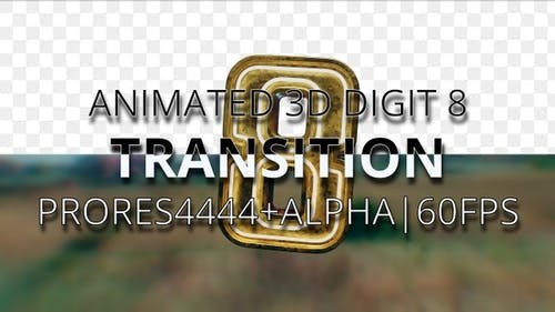 Animated digit 8 transition UHD 60fps