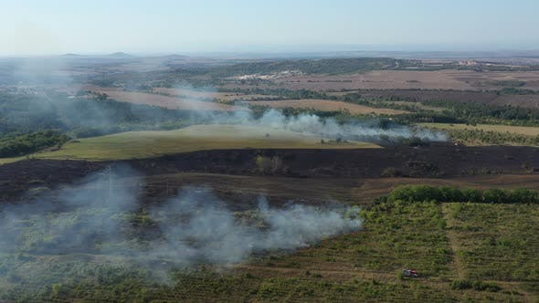 Thumbnail for Aerial View Of Fire In Nature