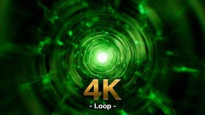 Green Poison Swirl Tunnel 4K