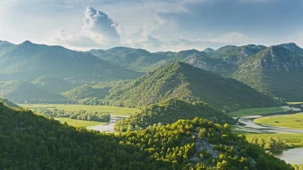 Thumbnail for Skadar Lake River Curved on Valley, Virpazar National Park, Montenegro