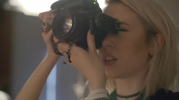 Female Photographer at Work