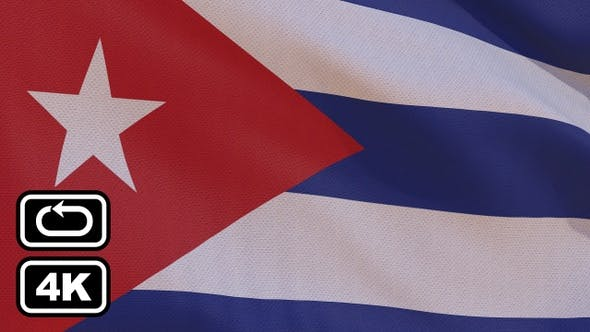 Thumbnail for Cuba Flag 4K Seamless Loop