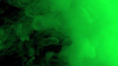 Green Paint Splash in Underwater