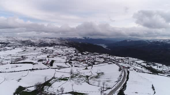 Thumbnail for Beautiful Village Covered by Snow