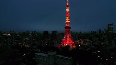 Tokyo Tower and city of Tokyo, Japan.