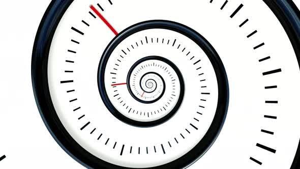 Infinite rotating clock background
